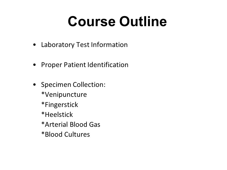 Blood Specimen Collection Overview Education Module FY ppt download