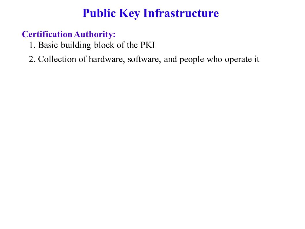 Public key infrastructure a pki 1 binds public keys to entities public key infrastructure certification authority 1 xflitez Images