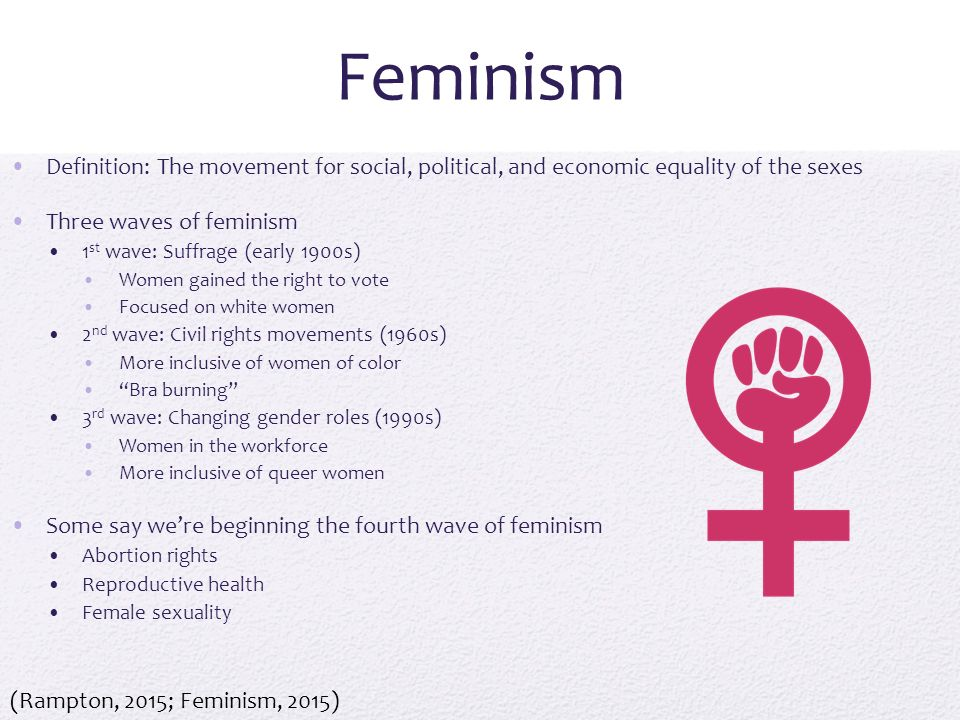 a review of feminism and gender equality in the 1990s Liberal feminism, or the equality this approach arose in the 1980s and 1990s in efforts to (not prescription) to guide efforts to achieve gender equality.