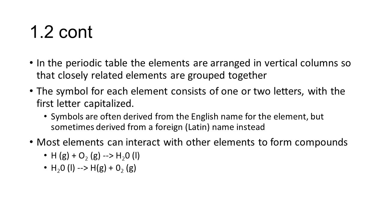 Ch 1 introduction matter and measurement 11 the study of 12 cont in the periodic table the elements are arranged in vertical columns so that closely gamestrikefo Choice Image
