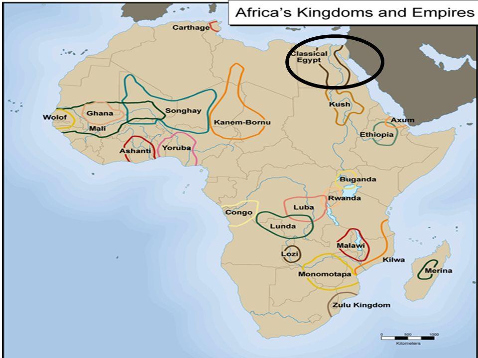 ANCIENT AFRICA BCBC Yrs Ago Farming Civs Grow Along - Nile river map world atlas