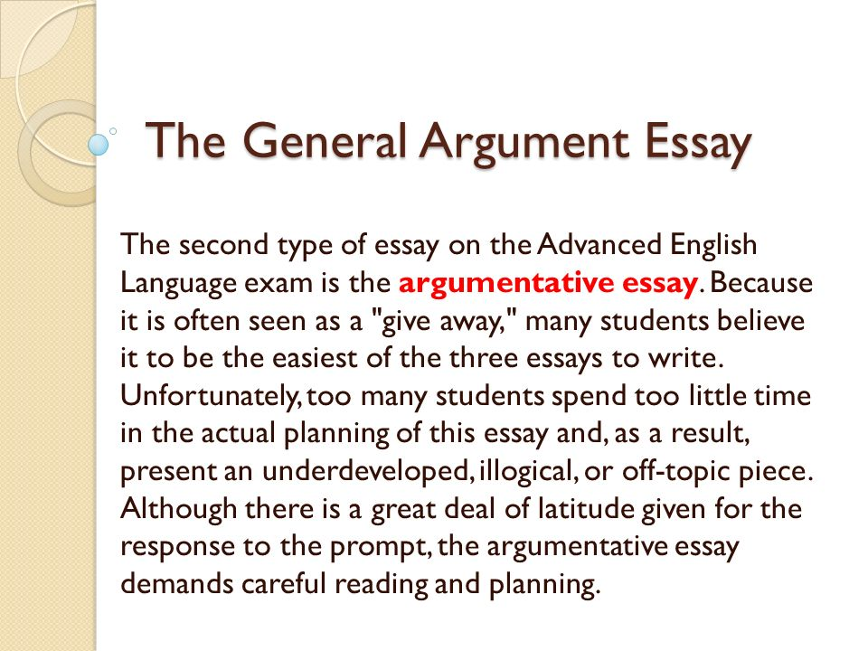 what are the two general types of essay