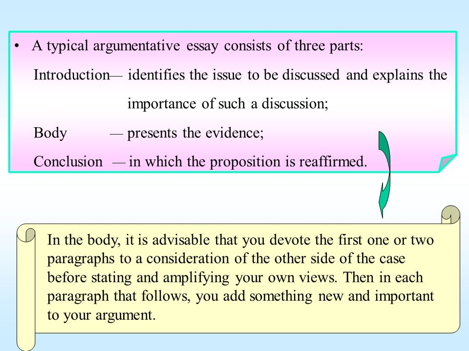 2nd paragraph of argumentative essay Writing an argumentative essay second point and supporting info c use one paragraph to state each of your points.