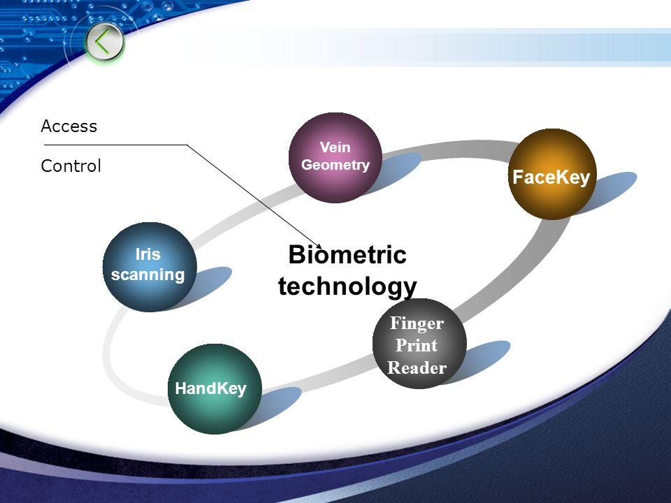 Biometric technology Access Control Vein Geometry Finger Print Reader FaceKey HandKey Iris scanning