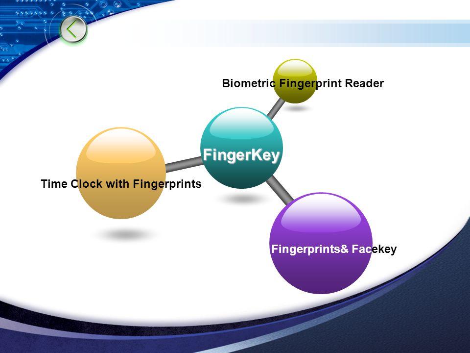 LOGO FingerKey Biometric Fingerprint Reader Time Clock with Fingerprints Fingerprints& Facekey