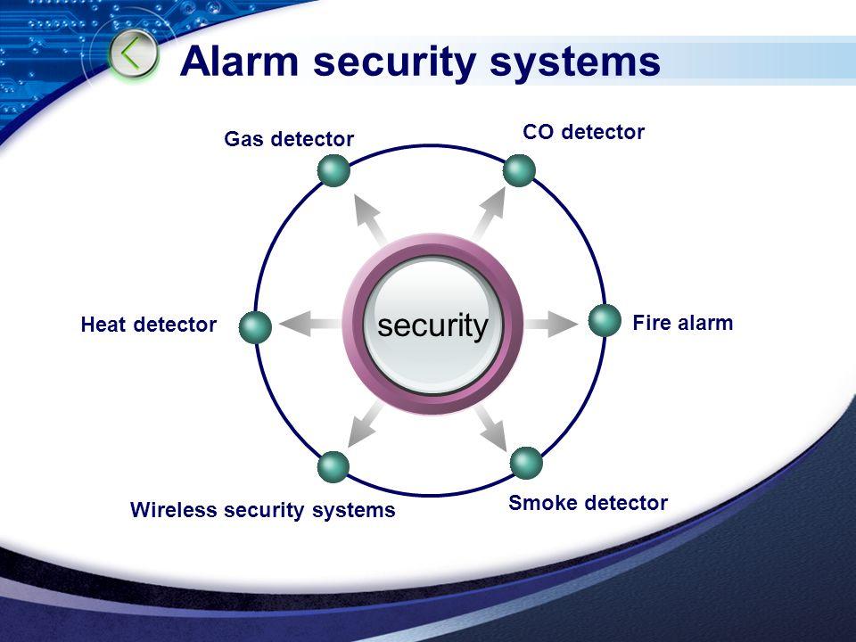 LOGO Alarm security systems security CO detector Fire alarm Smoke detector Heat detector Gas detector Wireless security systems