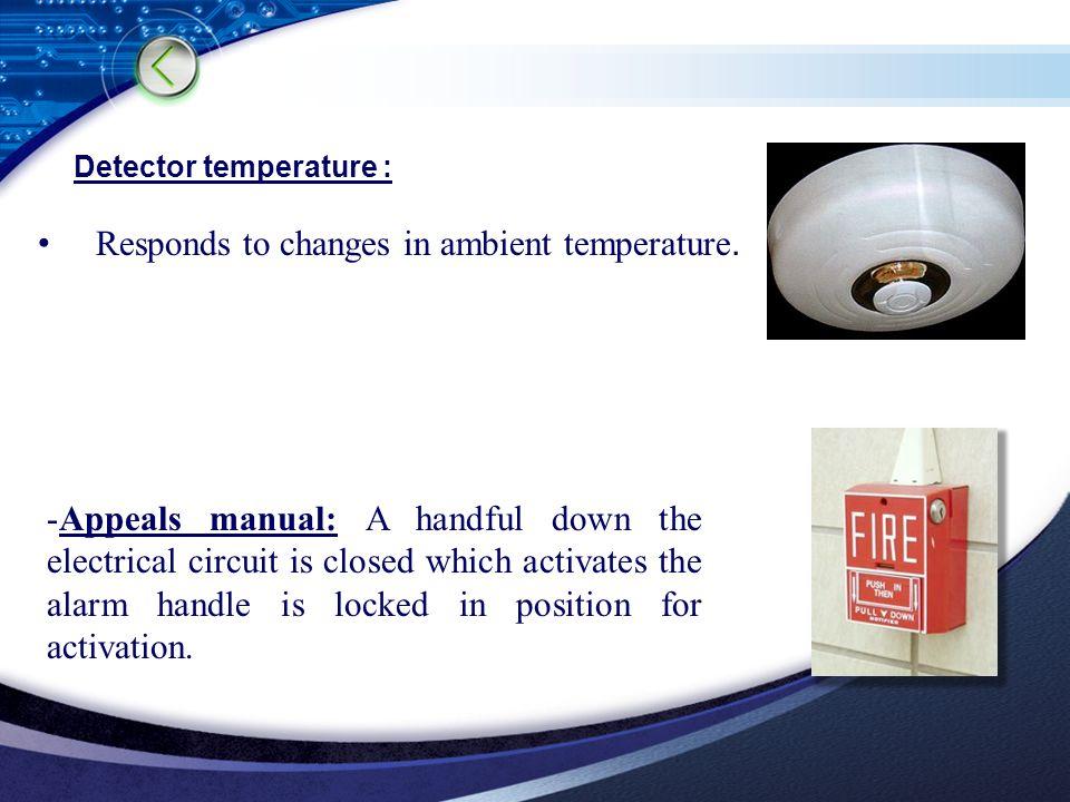 LOGO Detector temperature : Responds to changes in ambient temperature.