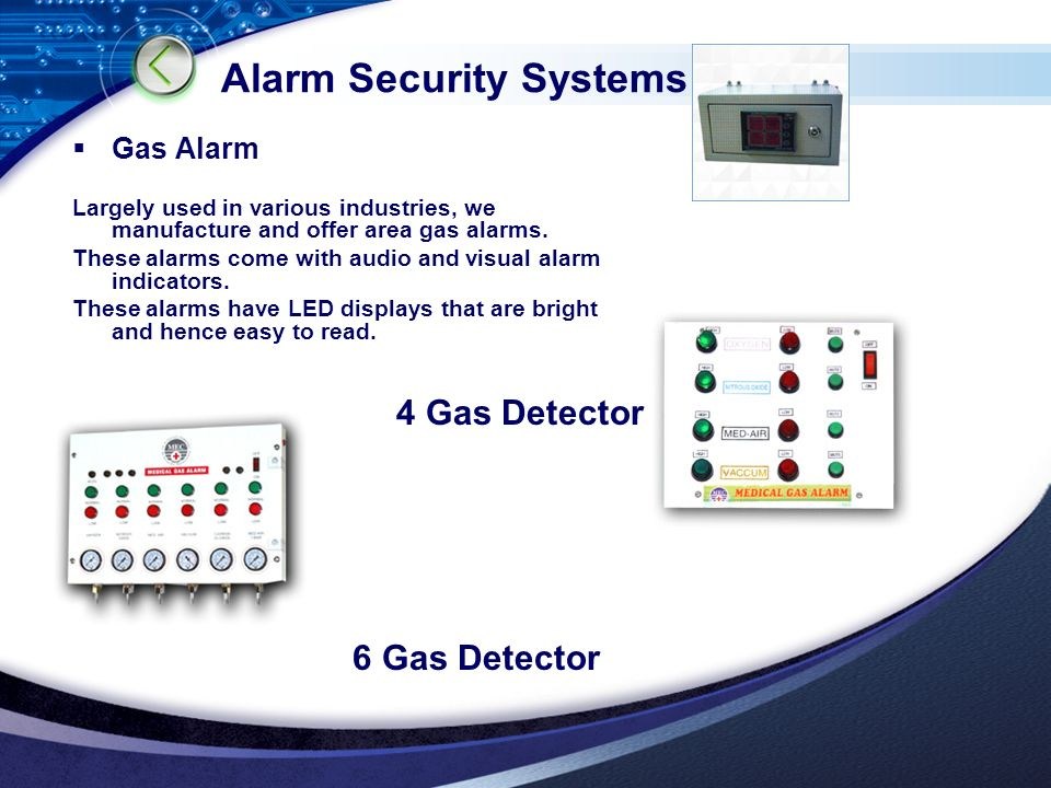 LOGO Alarm Security Systems  Gas Alarm Largely used in various industries, we manufacture and offer area gas alarms.