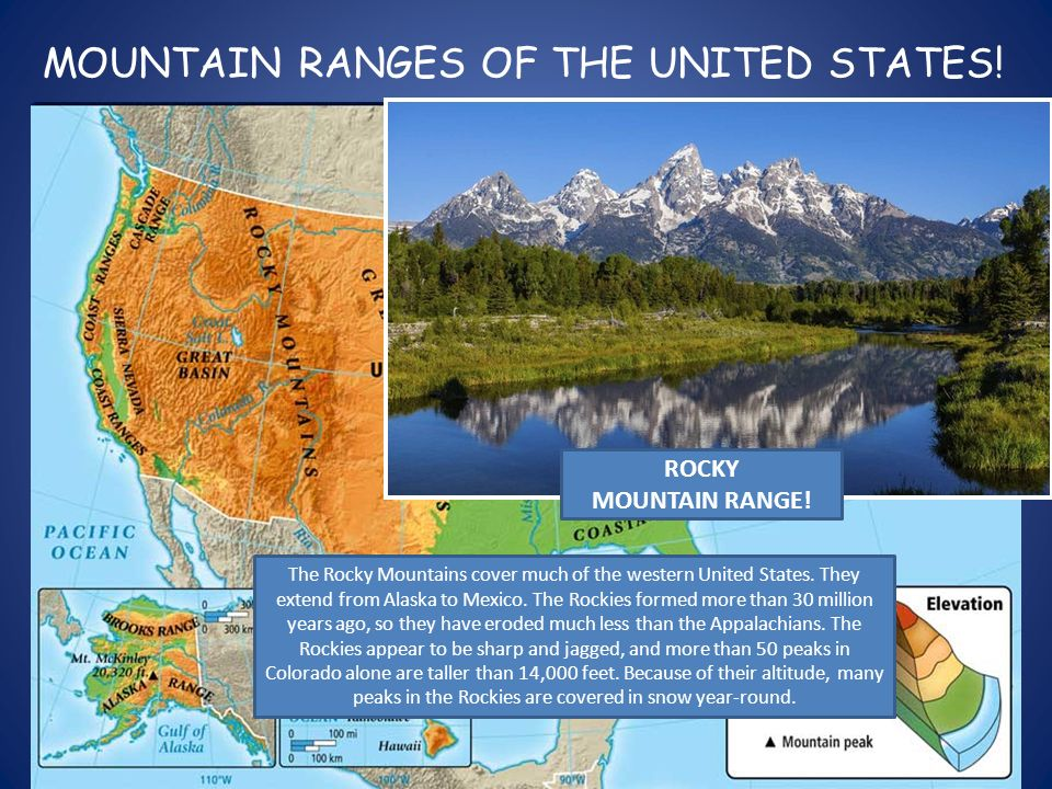 PHYSICAL FEATURES OF THE UNITED STATES APPALACHIAN MOUNTAIN
