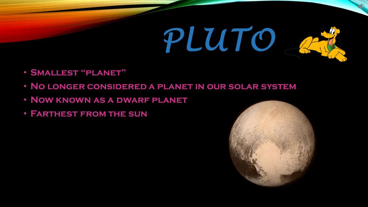 Smallest planet