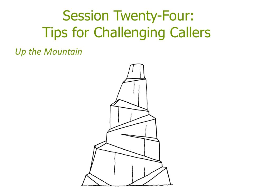 Session Twenty-Four: Tips for Challenging Callers Up the Mountain