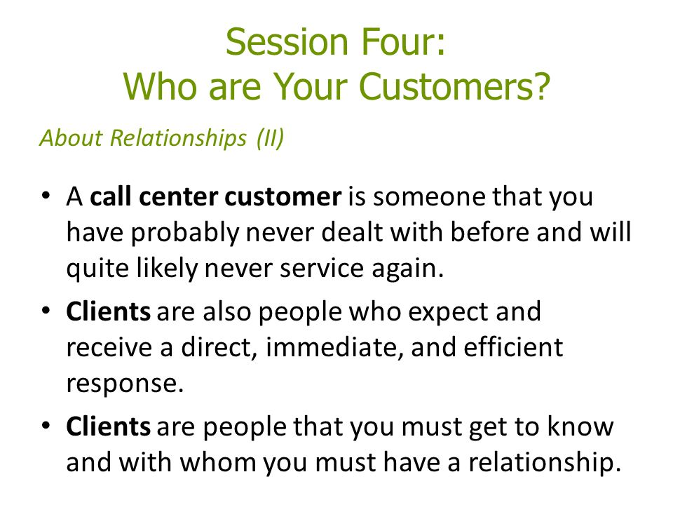 Session Four: Who are Your Customers.