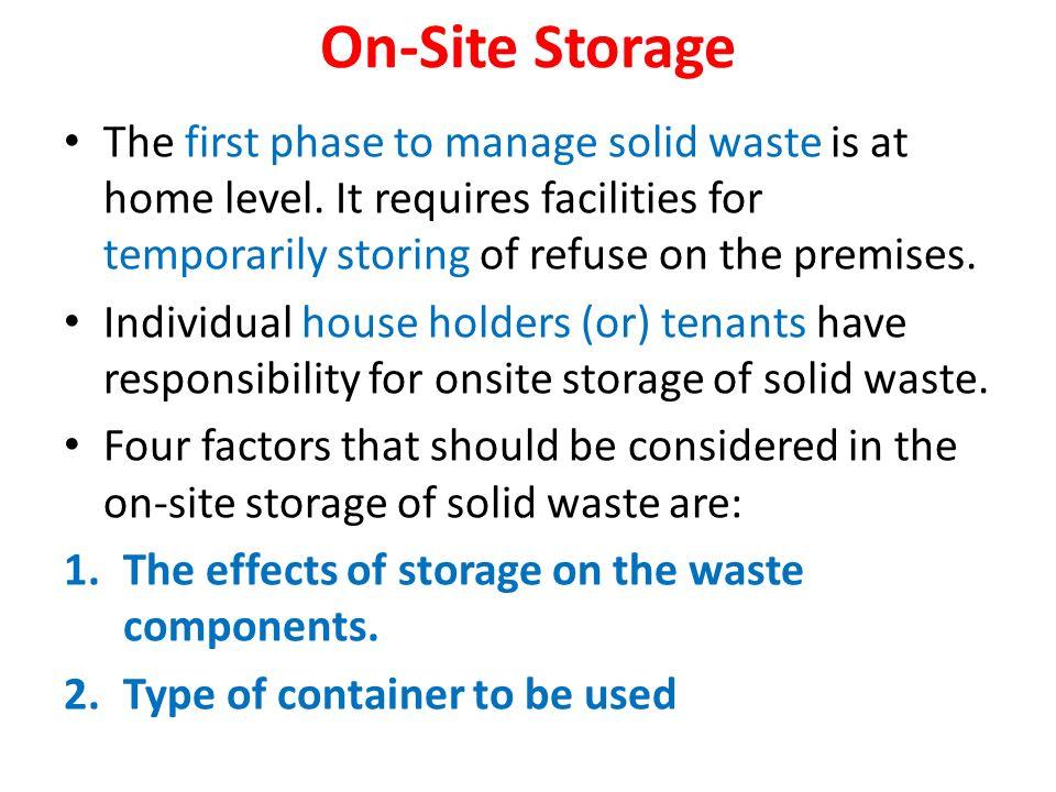 21 On Site Storage