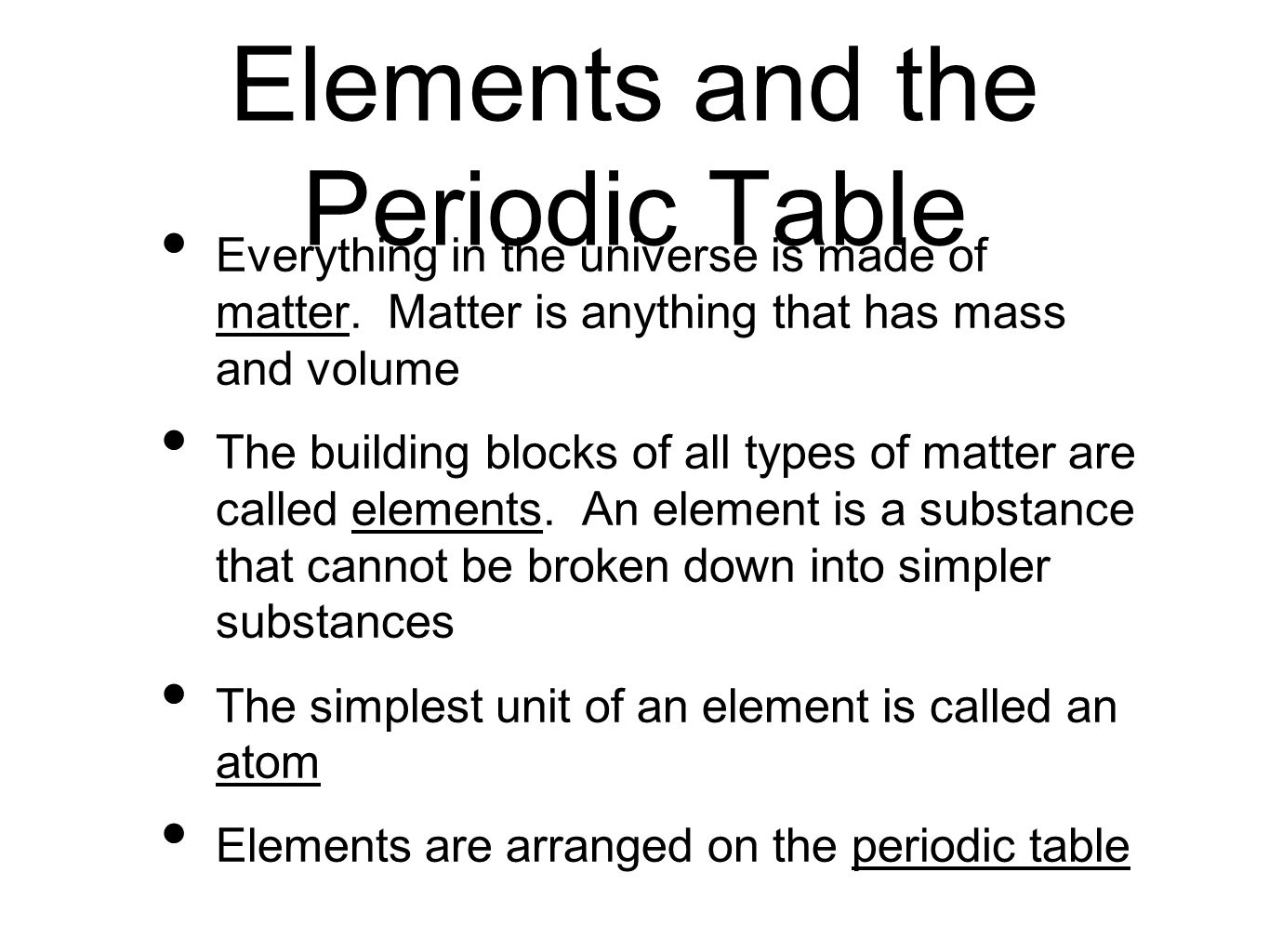 Minerals chapter 2 matter section 1 elements and the periodic elements and the periodic table everything in the universe is made of matter gamestrikefo Gallery
