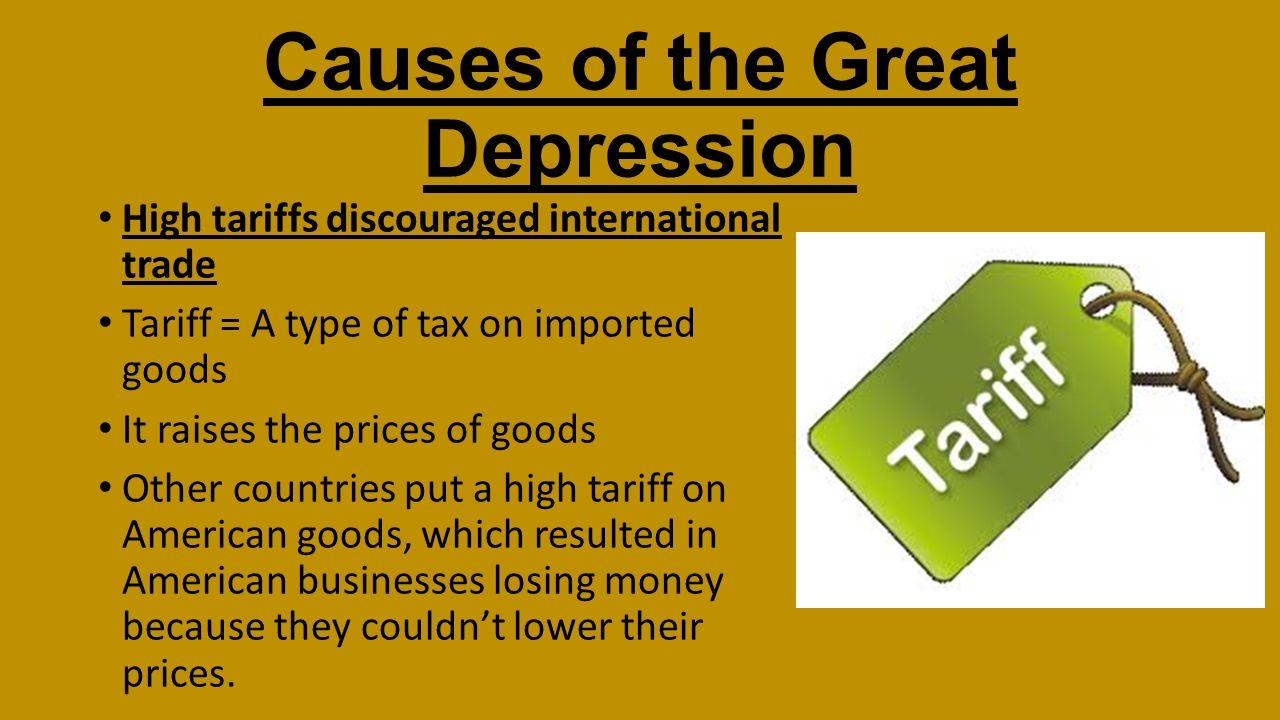 impact on great depression