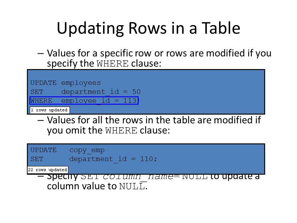 13 Updating ...  sc 1 st  SlidePlayer & Insert update delete TCL. Data Manipulation Language \u2013 A DML ...
