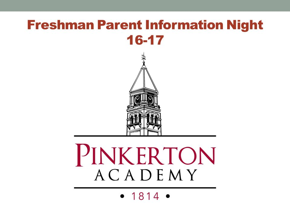 Freshman Parent Information Night 16-17