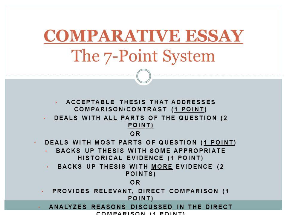APW Comparison Essay    ppt video online download
