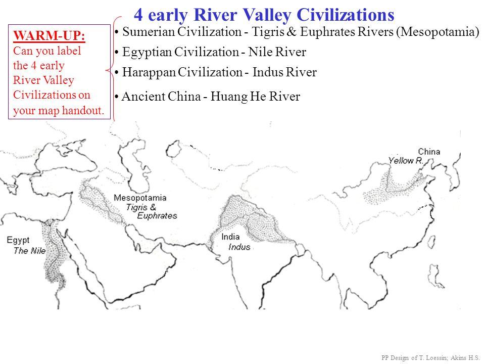 4 early River Valley Civilizations Sumerian Civilization - Tigris ...