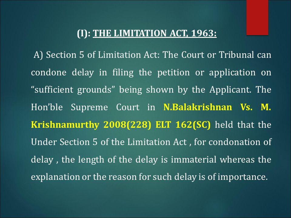 condonation of delay