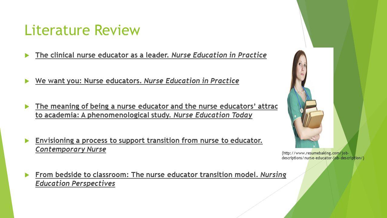 Professional Capacity Building Assignment 1 Dream Job Presentation – Nurse Educator Job Description