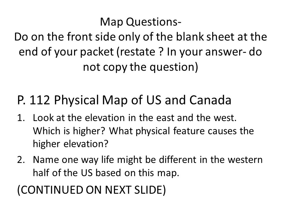 Landforms The US And Canada Have Several Major Mountain Ranges - Us only east side map