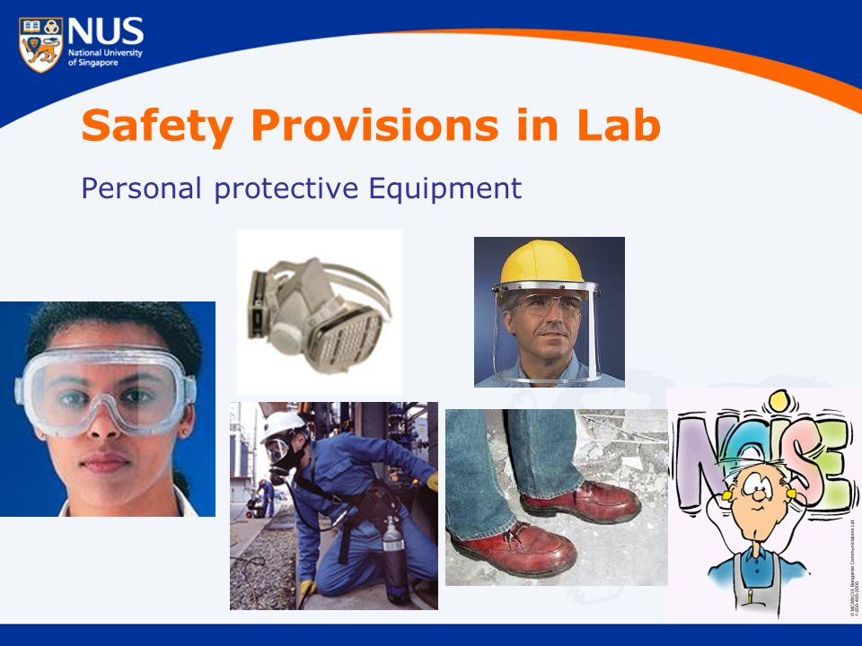 Safety Provisions in Lab Personal protective Equipment