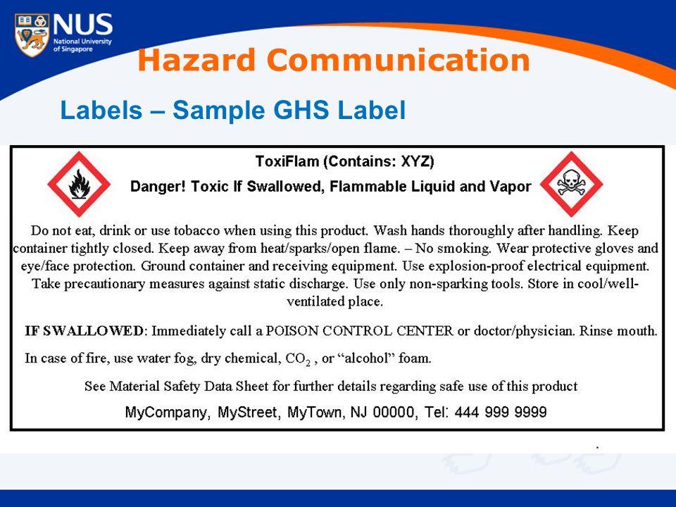 Labels – Sample GHS Label Hazard Communication