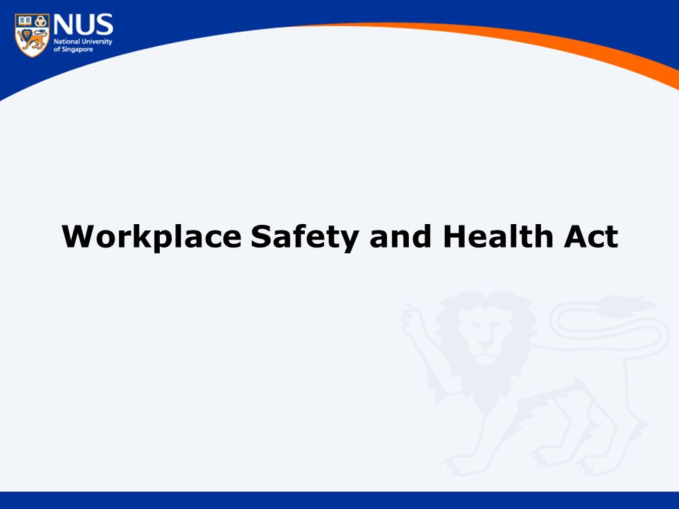 Workplace Safety and Health Act