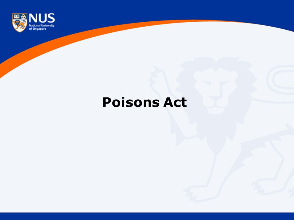 Poisons Act