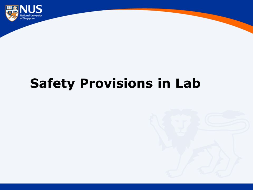 Safety Provisions in Lab
