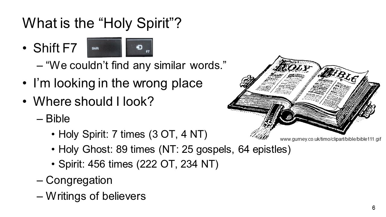 6 What is the Holy Spirit .
