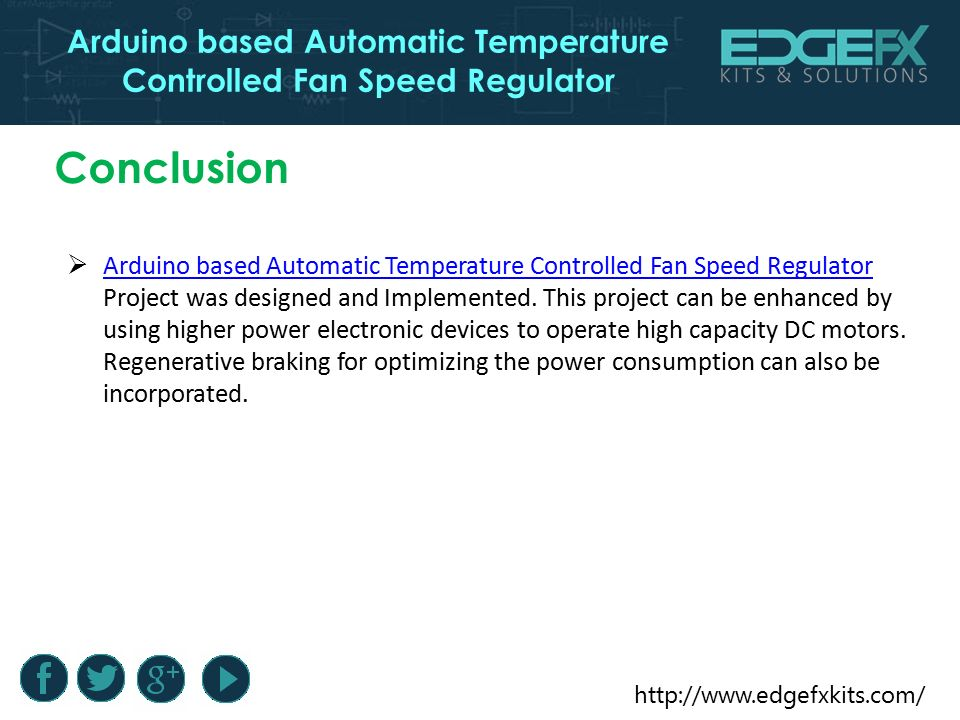 Automatic Temperature Controlled Fan Using Arduino Ide