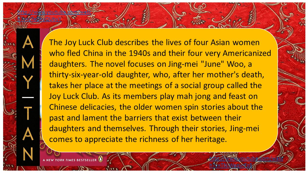a descriptive review on the four main characters of the joy luck club by amy tan