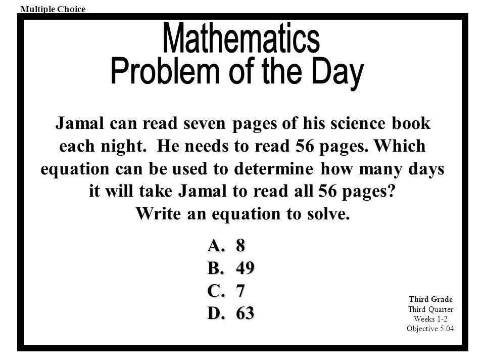 Cool Third Grade Equation Images - Printable Math Worksheets ...