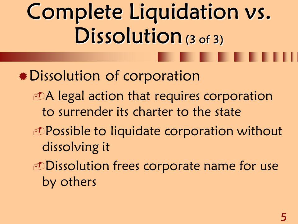Tax attributes of liquidating corporations