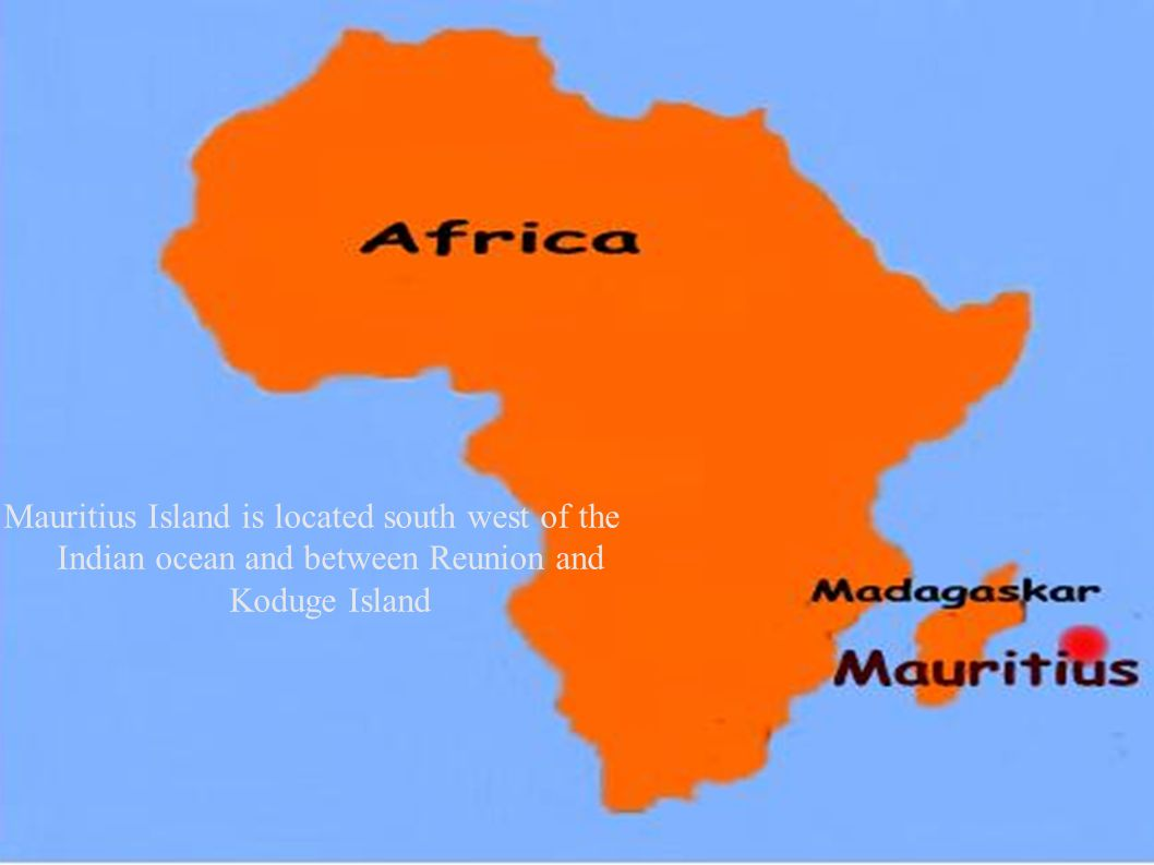 Mauritius Island Mauritius Island Is Located South West Of The - Mauritius map africa