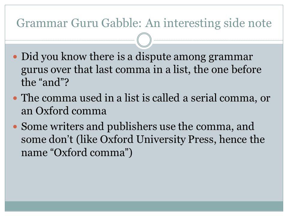 Grammar Notes wk 3 Commas. - ppt video online download