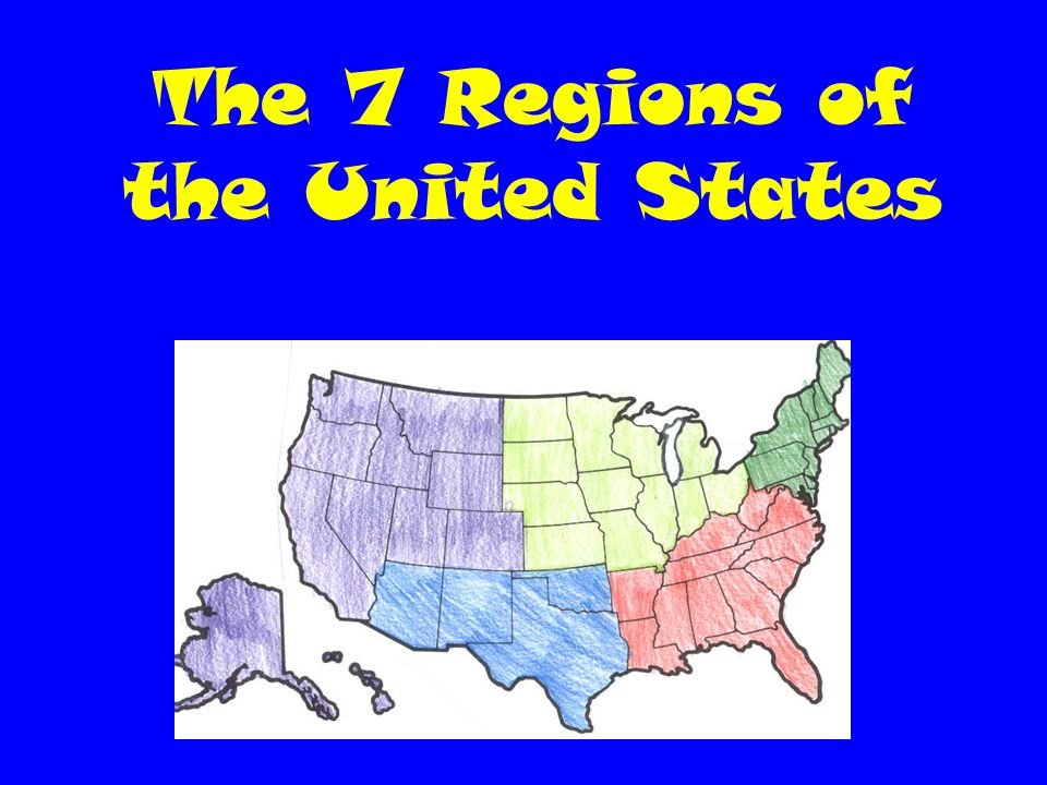 The 7 regions of the united states region an area on the earths 2 the 7 regions of the united states sciox Image collections