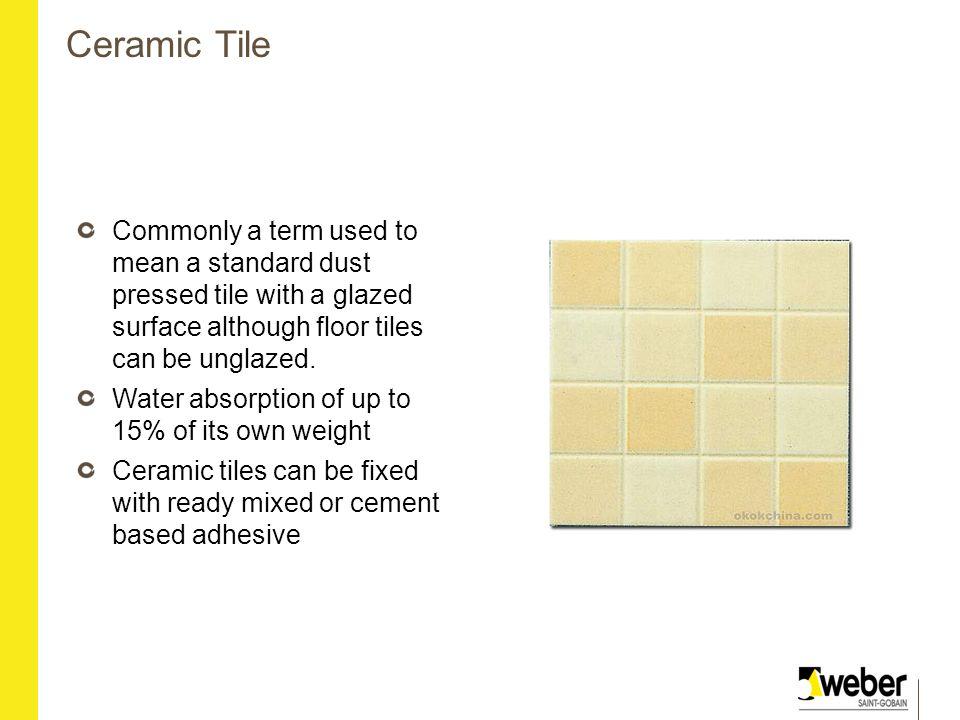 Ready mixed floor tile adhesive