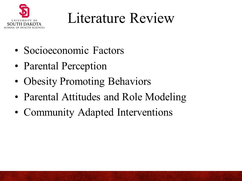 Review Of Literature On Childhood Obesity