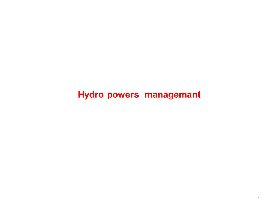 7 Hydro powers managemant