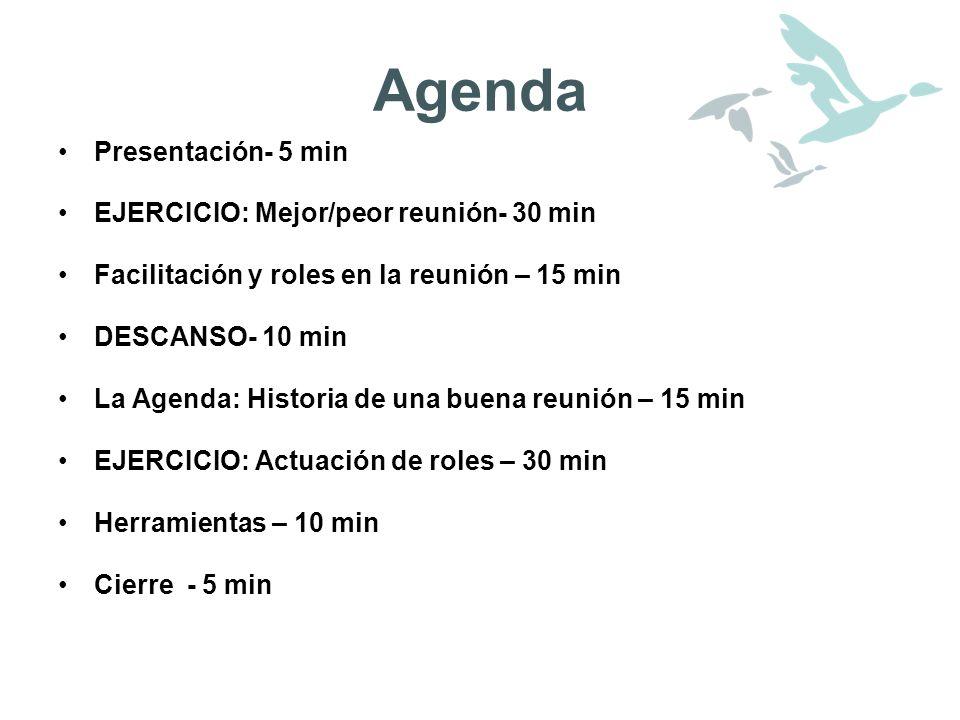formato de agenda de reuniones