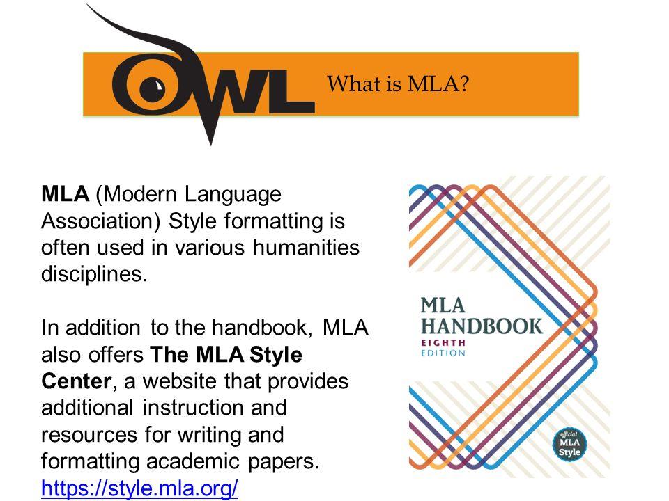 mla style formatting example
