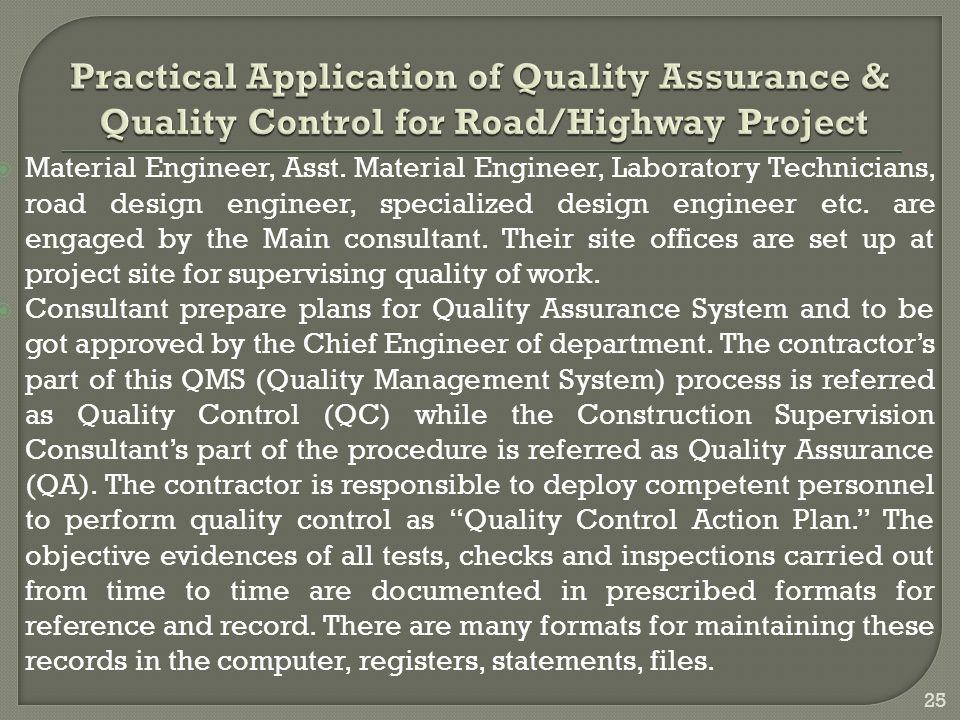  Material Engineer, Asst.
