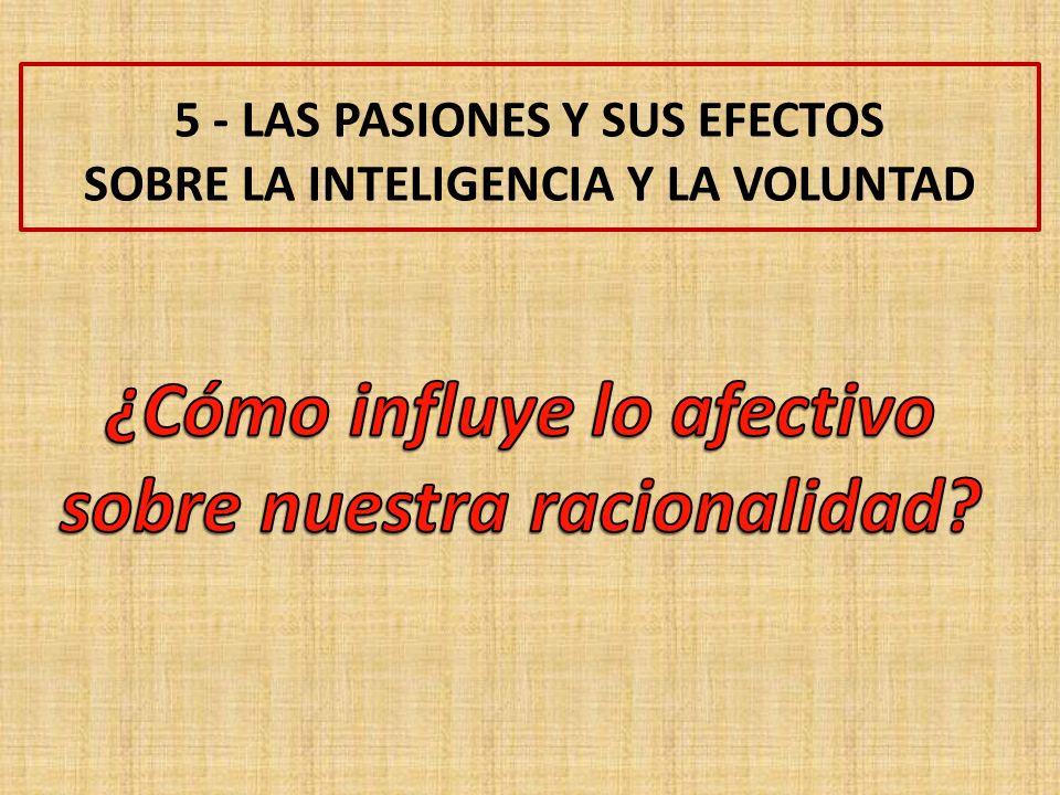5 - LAS PASIONES Y SUS EFECTOS SOBRE LA INTELIGENCIA Y LA VOLUNTAD