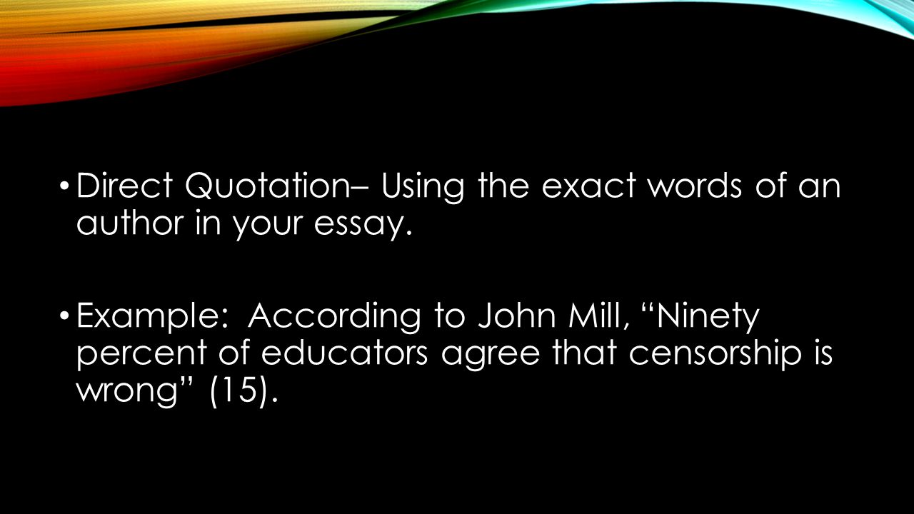 quoting important documents essay If you think it's important to quote something if you are quoting more than 3 lines of material, you should do the how to use quotes in an essay.