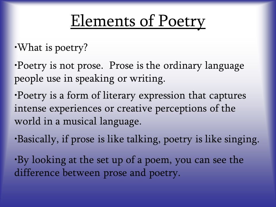 difference between prose and poetry essay