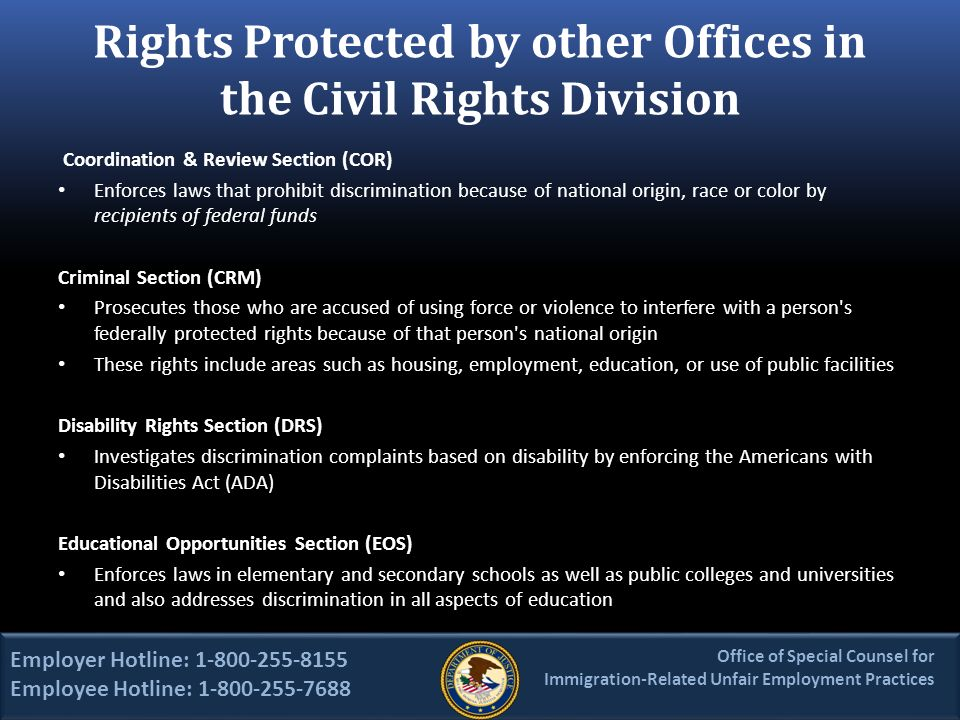the violations of american civil rights by law enforcement Know your rights exercise your rights it by educating law enforcement agencies american diabetes advocates individuals alleging civil rights violations.