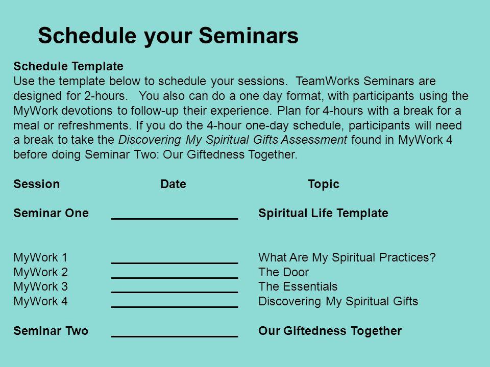 seminar schedule template - Selo.l-ink.co